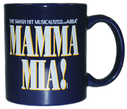 Mamma Mia! the Broadway Musical - Cobalt Blue Logo Coffee Mug